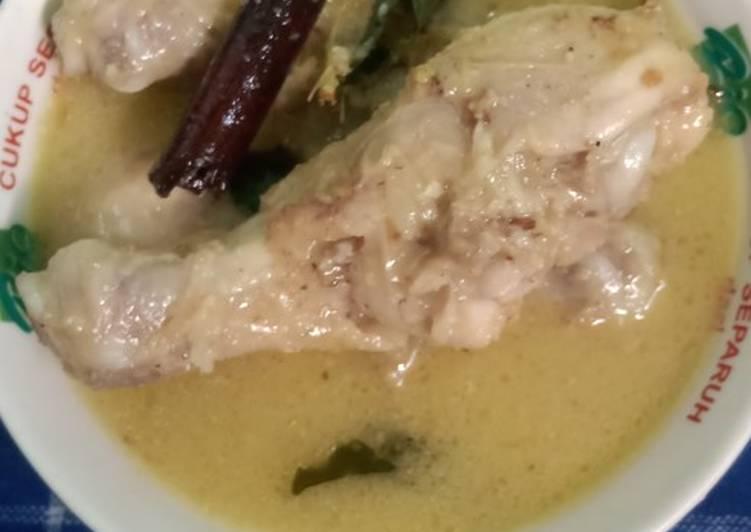 Cara Mudah membuat Opor ayam putih sedap