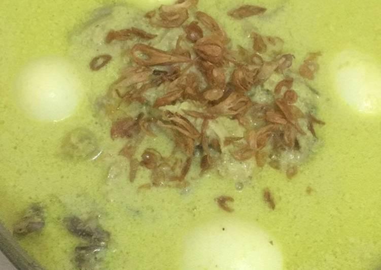 Resep: Opor ayam + telur kuah kuning ala resto