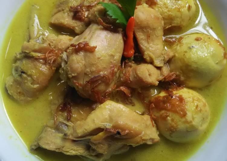 Resep: Opor Ayam & Telur Sedaapp. ala resto
