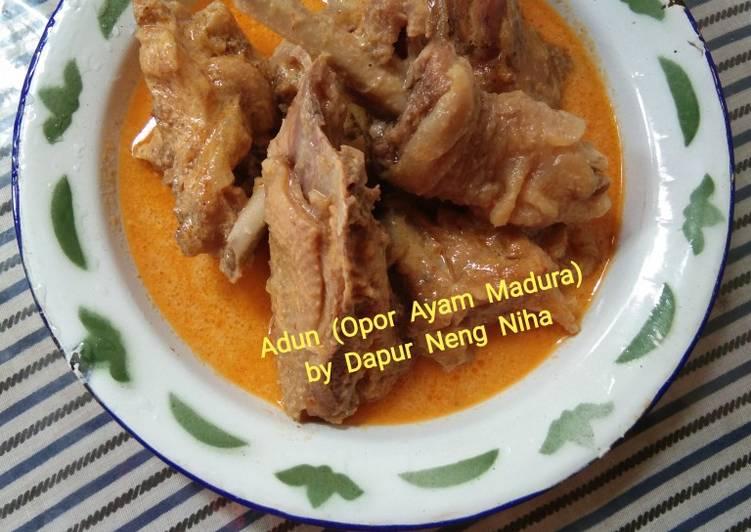 Cara Mudah membuat Adun (Opor ayam madura) lezat