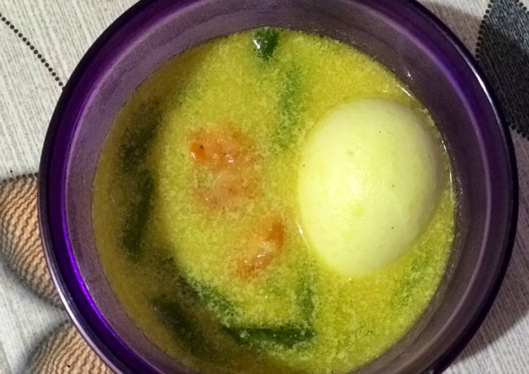 Cara Mudah mengolah Opor telur, udang buncis yang menggugah selera