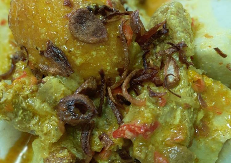 Resep membuat Opor Telur+Daging Sapi simpel tapi rasa endolita yang bikin ketagihan