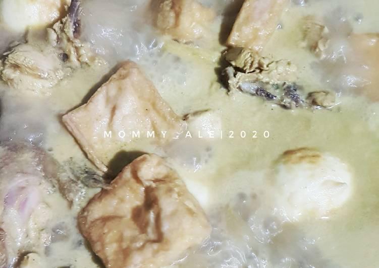 Resep: Opor Ayam Tahu Telur yang menggugah selera