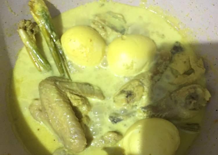 Resep: 4. Opor Ayam Telur yang menggugah selera