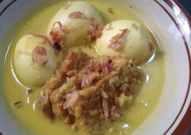 Resep: Opor telur tempe lezat