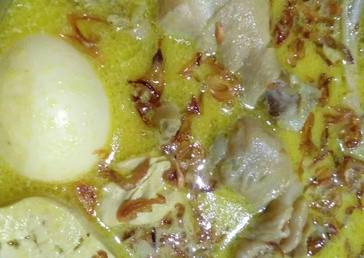 Cara memasak Opor ayam tahu telur