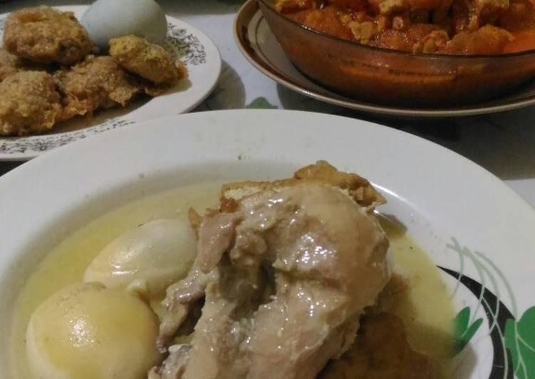 Resep: Opor Ayam telur simple enak