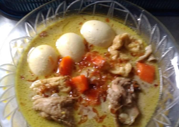 Cara membuat Opor ayam/telur ala resto