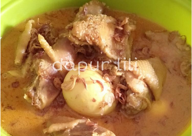 Resep: Opor ayam dan telor istimewa