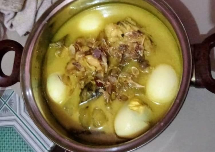 Resep: Opor Ayam+telur enak