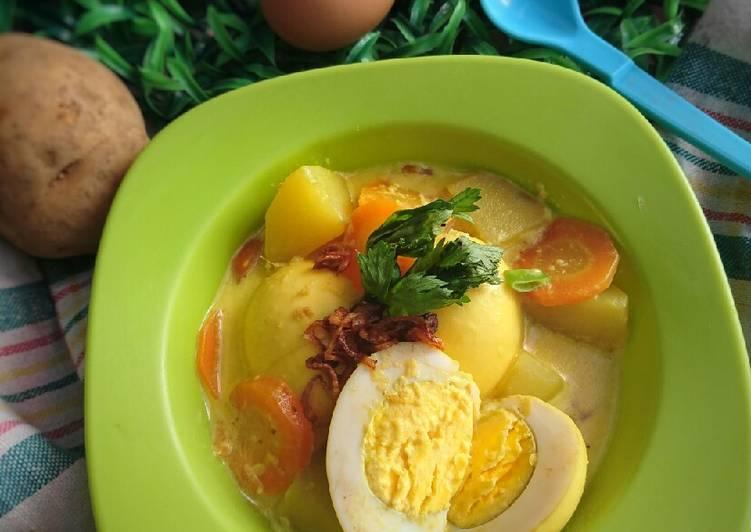 Resep: #26 Opor Telur Kuah Susu ala resto