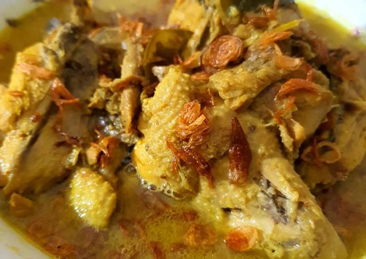 Resep: Opor ayam dan telur istimewa