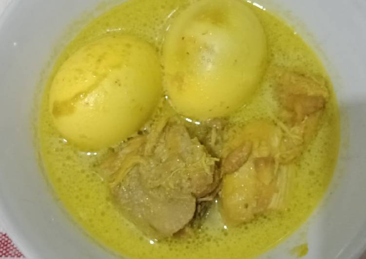Opor Ayam dan telur#Debm friendly