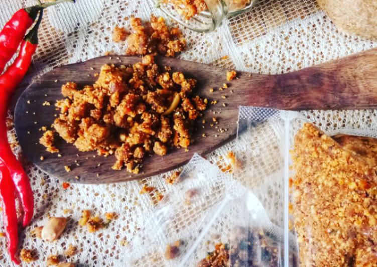 Cara Mudah membuat Sambel Pecel Madiun (tanpa minyak) istimewa