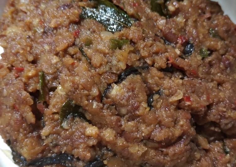 Cara membuat Sambel pecel kacang merah yang menggugah selera