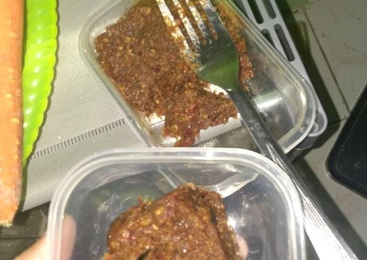 Resep: Sambal kacang/sambal pecel enak