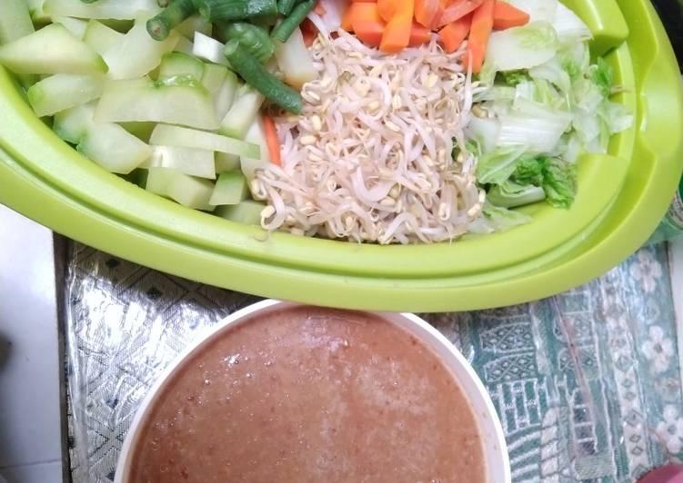 Resep: Lotek atau pecel sayur ala resto