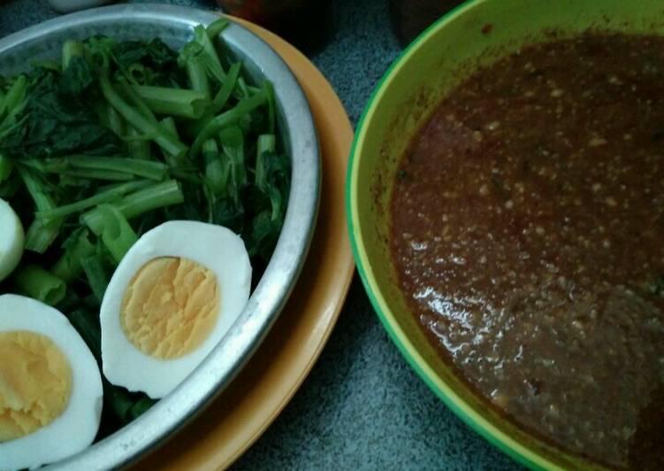 Resep membuat Pecel sayuran lezat