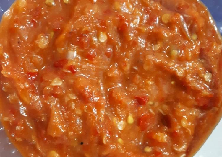 Resep: Sambal Pecel Lele/Ayam yang bikin ketagihan