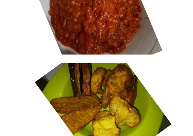 Cara membuat Sambel pecel ayam lezat