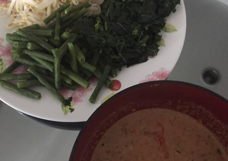 Resep mengolah Pecel sayur