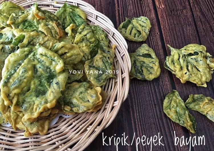 Resep: Kripik/peyek bayam dan kacang hijau istimewa