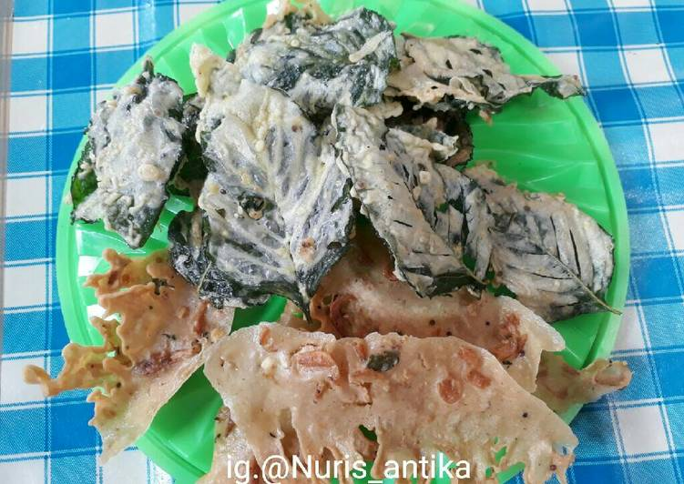 Resep memasak Keripik bayam dan peyek ebi, satu resep beda rasa lezat