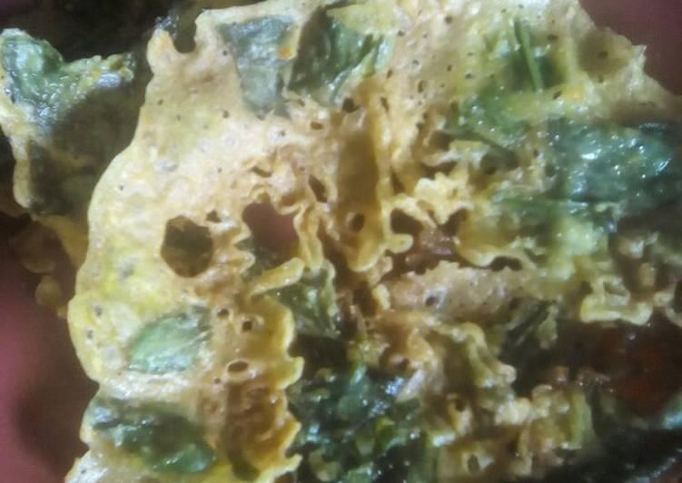 Cara Mudah mengolah Peyek daun gingseng(no telur no santan) ala resto