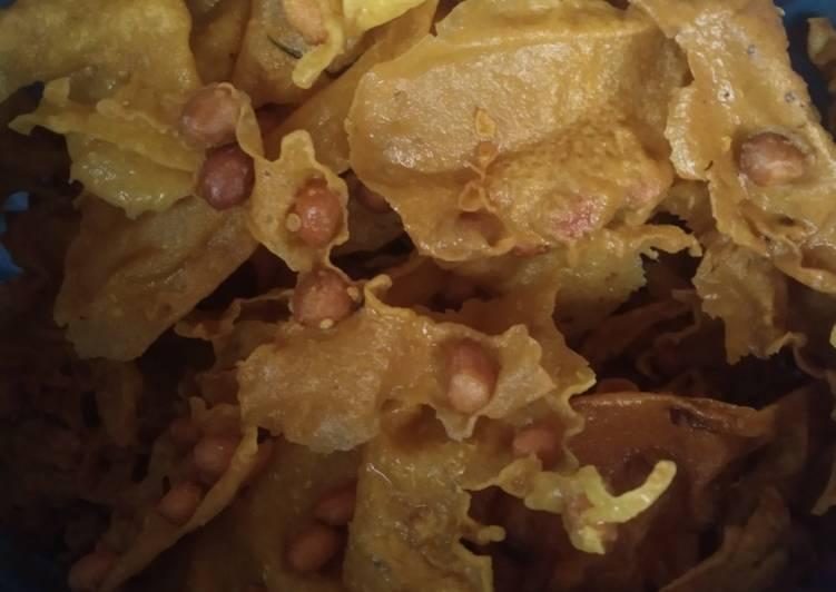 Cara membuat Rempeyek kacang renyah sedap