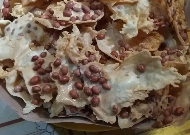 Resep membuat Peyek kacang ala resto
