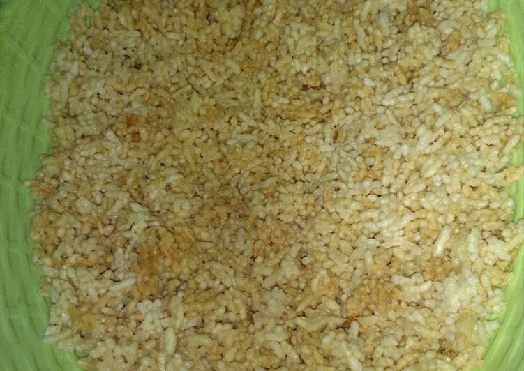 Resep membuat Rice crispy / rengginang rasa sapi... yang bikin ketagihan