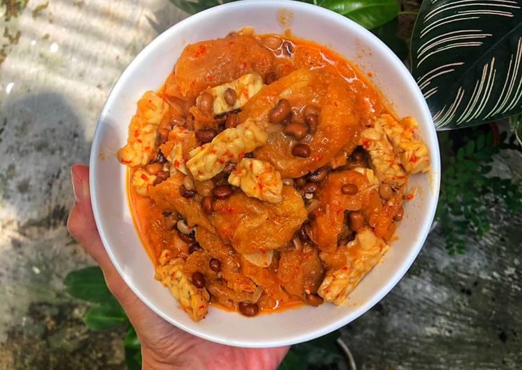 Resep: Sambal Goreng Krecek Tempe Kacang Tholo ala resto