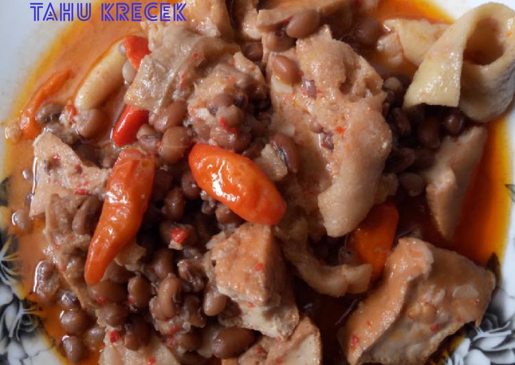 Resep mengolah Sambel goreng kacang tholo tahu krecek