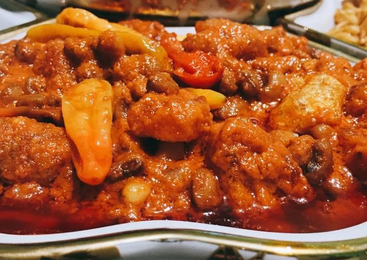 Resep: Sambel goreng Krecek + kacang tolo yang menggugah selera
