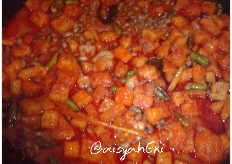 Resep mengolah Sambal goreng  krecek yang bikin ketagihan