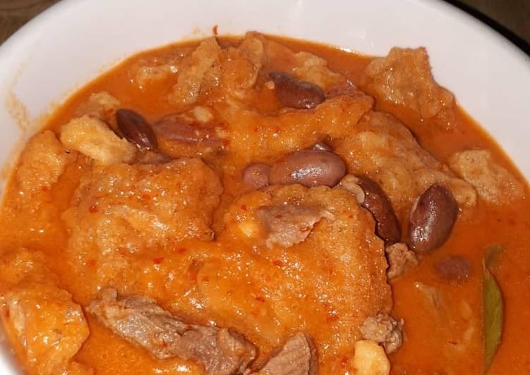 Cara Mudah memasak Sambel goreng krecek kacang merah lezat