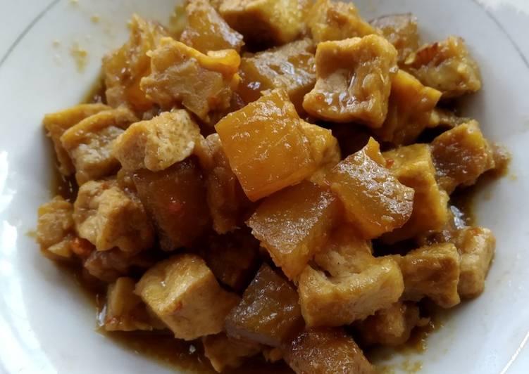 Resep mengolah Sambel goreng tahu+tempe+cecek ala resto