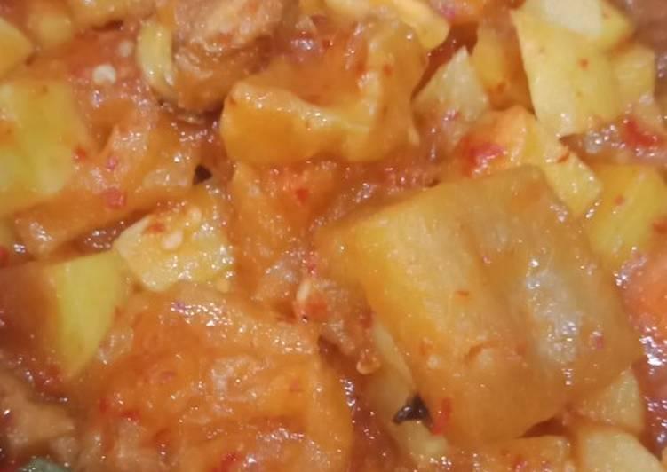 Cara membuat Sambal goreng kentang krecek enak