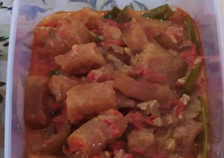 Resep: Sambel goreng krecek dan kentang ala resto