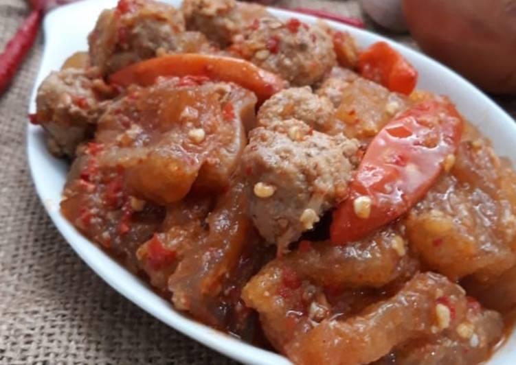 Resep: Sambel goreng krecek daging sapi keto/debm yang menggugah selera