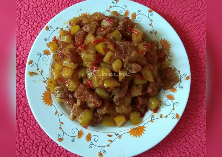 Resep: Sambal goreng krecek kentang bumbu sederhana