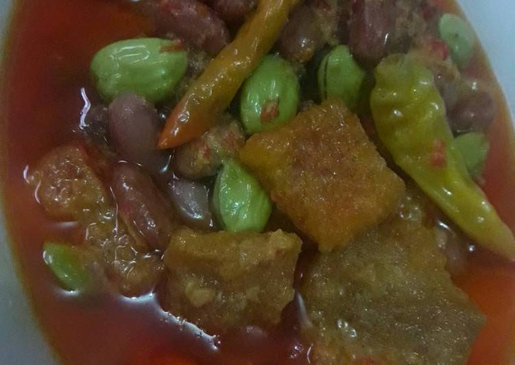Resep: Sambel goreng krecek kacang merah istimewa