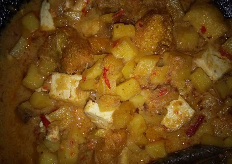 Resep memasak Sambal goreng kentang krecek