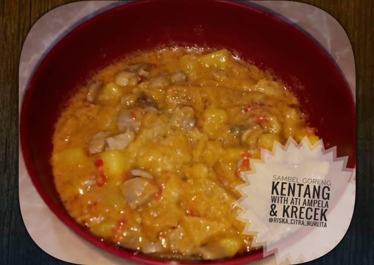 Resep: Sambel goreng kentang with ati ampela & krecek lezat