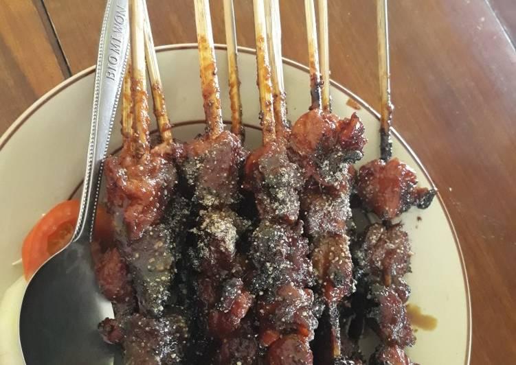 Resep memasak Sate klatak kambing