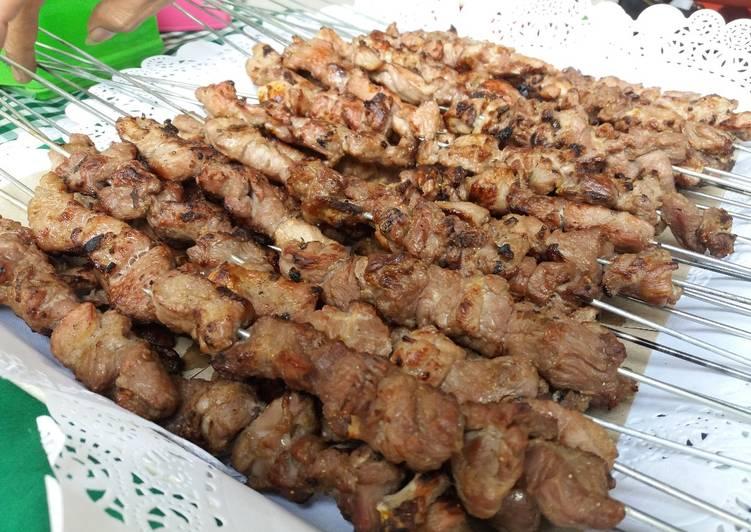 Resep mengolah Sate Klathak (Sate Kambing gurih khas Jogja) ala resto