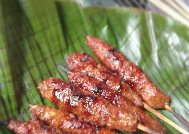 Resep: Sate daging giling rempah manis ala bujang istimewa