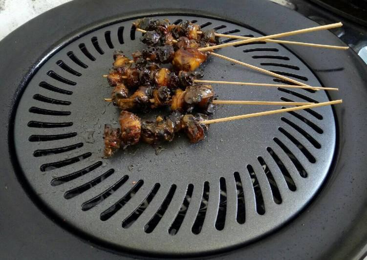 Resep: Sate keong sawah,masak pedas manis istimewa