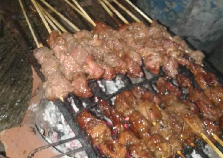 Cara memasak Sate kambing manis istimewa