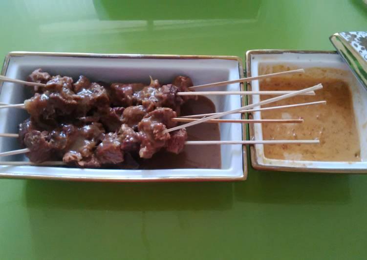 Resep: sate daging asem manis enak